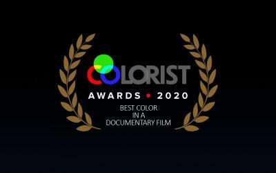 "Winner Colorist Award 2020 – ""Best Color in a Documentary Film"""